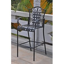 Mandalay Outdoor Iron Bar Height Patio Chair (Set of 2)