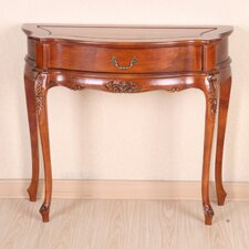 <strong>International Caravan</strong> Windsor Hand-Carved One Drawer Hall Table
