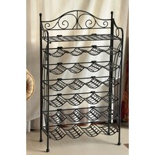 Wrought Iron 24-Bottle Indoor/Outdoor Wine Rack