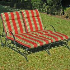 Mandalay Wrought Iron 5-Postion Double Patio Chaise Lounge