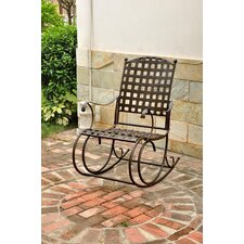 Santa Fe Wrought Iron Outdoor Patio Rocker