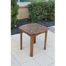 <strong>International Caravan</strong> Acacia Patio Sunburst Side Table