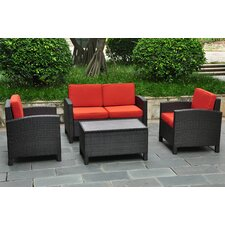 Barcelona 4 Piece Deep Seating Group with Cushions