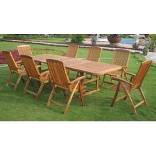 <strong>International Caravan</strong> Royal Tahiti Cardena 9 Piece Dining Set