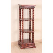 Windsor Hand Carved Wood 4-Tier Display Cabinet