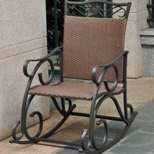 Valencia Wicker ResinSteel Patio Rocking Chair