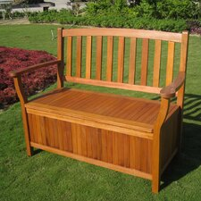 International Caravan Royal Tahiti Wood Outdoor Storage Bench