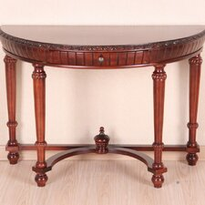 <strong>International Caravan</strong> Windsor Hand Carved Half-Moon Console Table