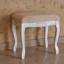 International Caravan Indoor Hand Carved Vanity Stool