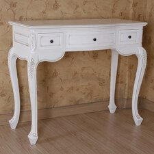 Windsor Hand Carved Wood Antique Vanity Desk