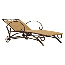 Valencia Chaise Lounge in Brown