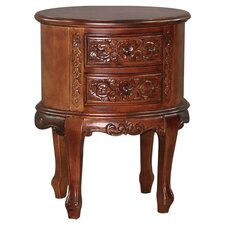 Windsor Hand Carved 2-Drawer Night Stand