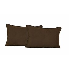 Micro Suede Back Support Pillows with Cording (Set of 2)