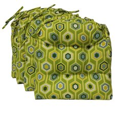 <strong>Blazing Needles</strong> Outdoor Chair Cushion (Set of 2)