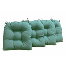 16-inch Solid Indoor U-shaped Cushions (Set of 4) (Set of 4)