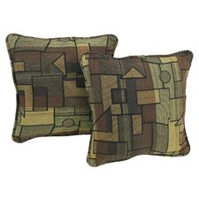 Contemporary Tapestry Pillow with Removable Insert (Set of 2)