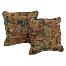 Western Tapestry Pillow with Removable Insert (Set of 2)