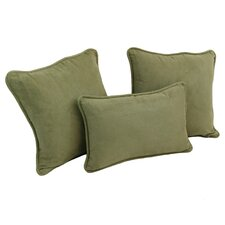 Blazing Needles Micro Suede Pillow Package (Set of 3)