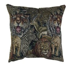 Blazing Needles 18 Tapestry Throw Pillow (Set of 2)