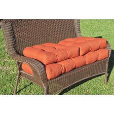 Blazing Needles Set of 3 Outdoor Patio Settee Cushions