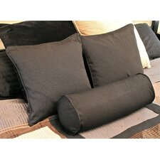 Futon Solid Pillows with Bolster Package (Set of 3)
