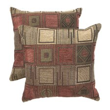 Blazing Needles 18 Jaquard Chenille Throw Pillow (Set of 2)