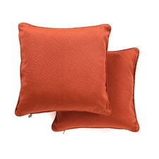 Solid Cotton Throw Pillow (Set of 2)