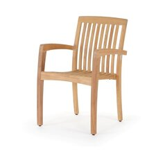 Teak Stacking Arm Chair (Set of 4)