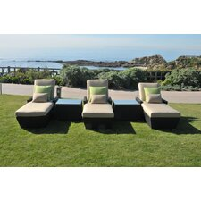 <strong>Caluco LLC</strong> Maxime 5 Piece Lounge Seating Group