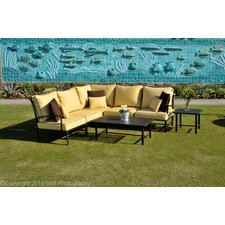 <strong>Caluco LLC</strong> San Michele 7 Piece Sectional Deep Seating Group with Cushions