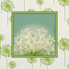 Dandelion Greenage Graphic Art on Canvas in Green and White