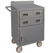 """38.37"""" H x 24"""" W x 18"""" D Mobile Bench Cabinet"""