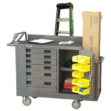 """38.37"""" H x 60"""" W x 24"""" D Mobile Bench Cabinet"""