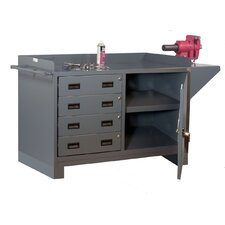 "60"" 14 Gauge Welded Steel Stationary Work Station"