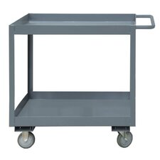 2 Shelf Stock Carts with Lips Up