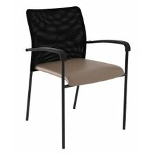 Match Mesh Guest Chair with Vinyl Fabric Seat