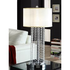 "Cortona 30.5"" H Glam 1 Light Crystal Table Lamp"