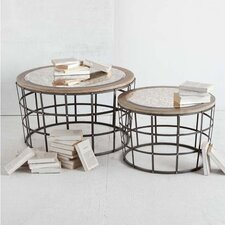 Gaiola 2 Piece Nesting Table