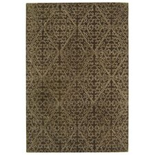 Strolling Garden Black Coffee/Brown Rug