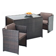 Luxe 3 Piece Rectangular Dining Set