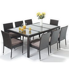 Luxe 9 Piece Rectangular Dining Set