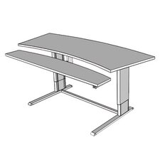 "Infinity Adjustable Command Center 72"" W x 34"" D Utility Table"