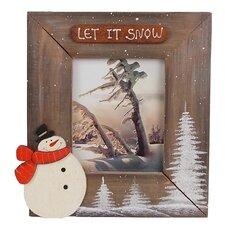 "Medium ""Let it Snow"" Cabin Photo Frame"