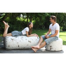 Birch Outdoor Stump Pouf