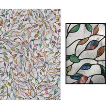 "24"" x 36"" Decorative New Leaf Window Film"