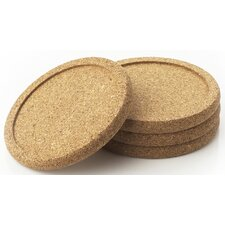 "4"" Cork Coaster (Set of 4)"