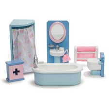 <strong>Le Toy Van</strong> Rosebud Dollhouse Bathroom Set