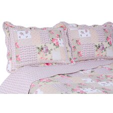 Vintage 3 Piece Rosemary Reversible Quilt/Sham Set