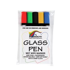 Wetwipe Glass and Blackboard Narrow Tip Pen (Set of 5)