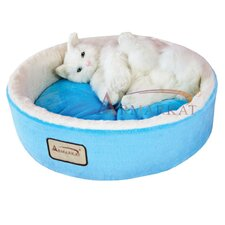 Cat Bed in Sky Blue and Ivory